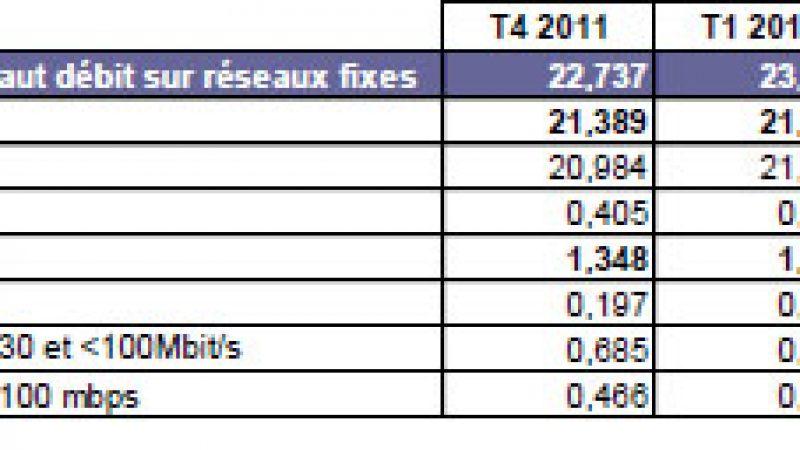 ARCEP : Le nombre d'abonnés FTTH a augmenté de 60% en 2012 mais reste toujours faible