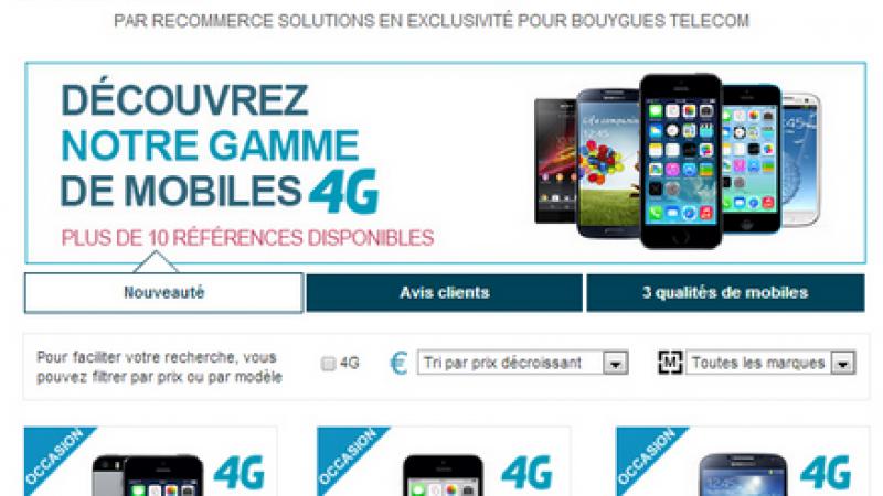 Bouygues se lance dans le mobile 4G d'occasion