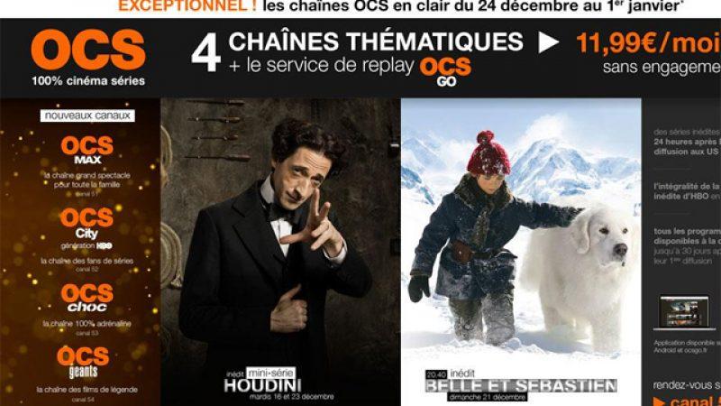 Les 4 chaînes OCS offertes sur Freebox : c'est parti !