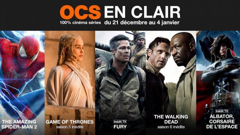 Toutes les chaînes cinéma OCS seront en clair sur la Freebox pour les fêtes