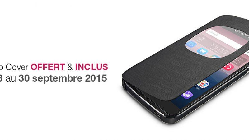 Nouveau : un flip cover est offert pour l'achat d'un Alcatel OneTouch IDOL 3