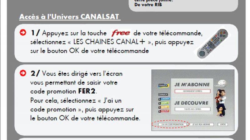 Promo Canalsat via Free : 10 euros par mois pendant 1 an