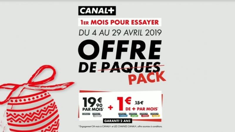 """Nouvelle offre """" de Pâques"""" sur la Freebox : 4 chaînes Canal+ à 1€ pour tout abonnement à Canal+"""