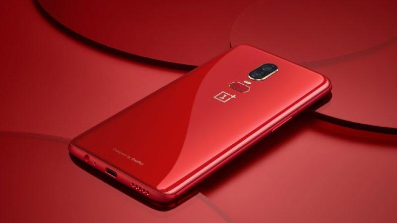 OnePlus 6 Red : une version rouge du terminal débarquera d'ici quelques jours