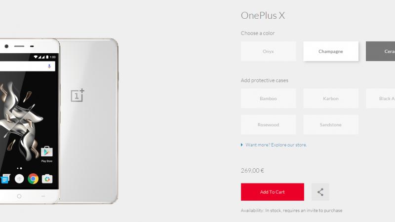 OnePlus X : pour les fêtes, OnePlus sort le champagne.