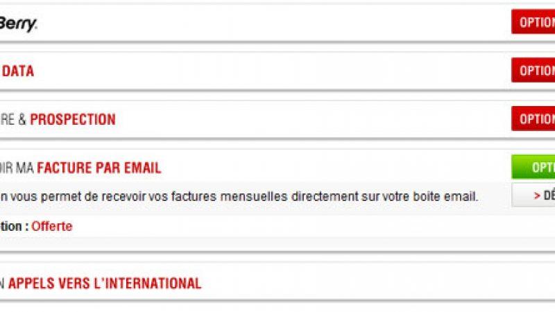 Nouvelle option dans l'espace abonné Free Mobile : envoi de la facture par email