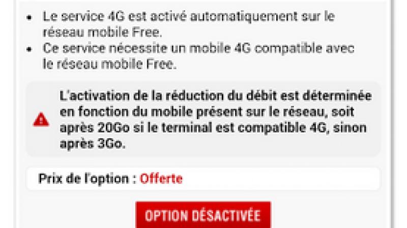 Free Mobile active automatiquement l'option 4G de certains abonnés