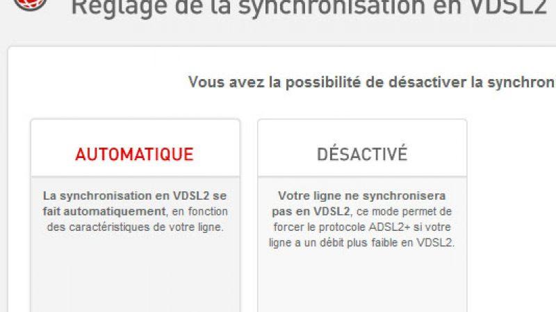 Nouveau : Free permet de gérer le VDSL 2 depuis l'interface Freebox et de régler le problème de perte de débit