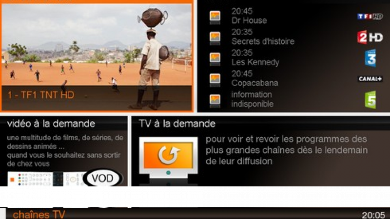 Orange change son interface TV