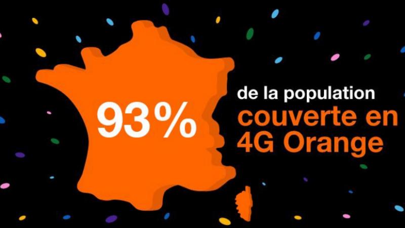 Orange annonce couvrir 93% de la population en 4G