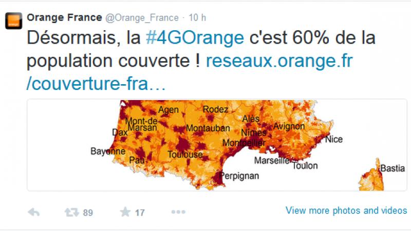 Orange dépasse Bouygues Telecom et annonce couvrir 90% de la population en 4G