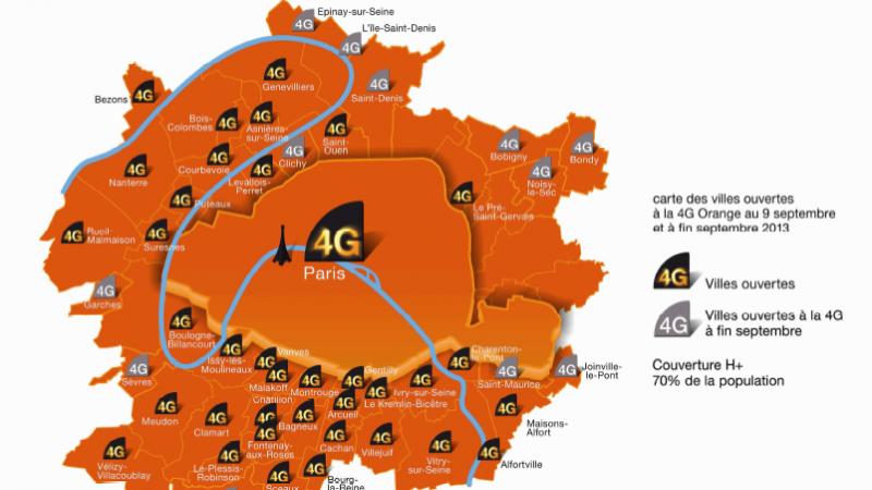 Orange annonce qu'il couvrira 40 % de la population en 4G fin 2013