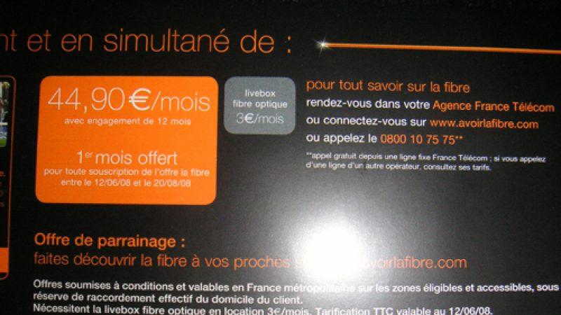 Clin d'œil : Free ADSL plus fort qu'Orange fibre