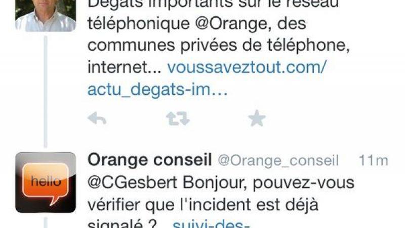 Clin d'œil : quand Orange s'emmêle les pinceaux sur Twitter