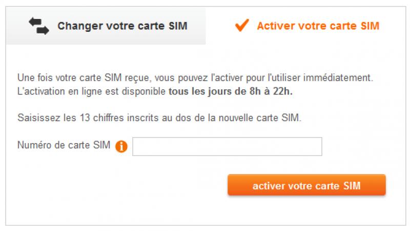 Une nouvelle fonction chez Sosh pour activer la carte SIM