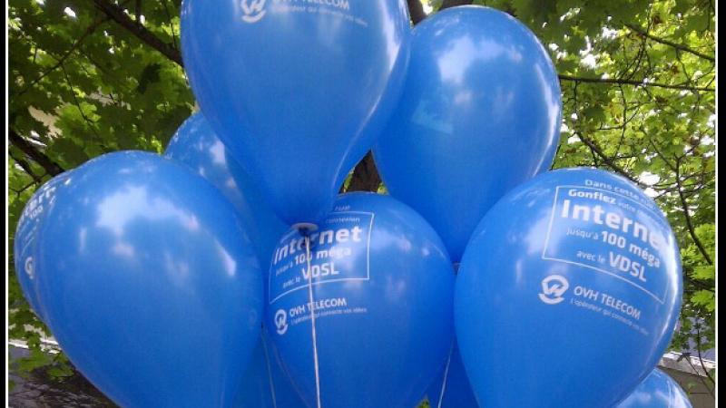 OVH gonfle sa communication VDSL avec des ballons