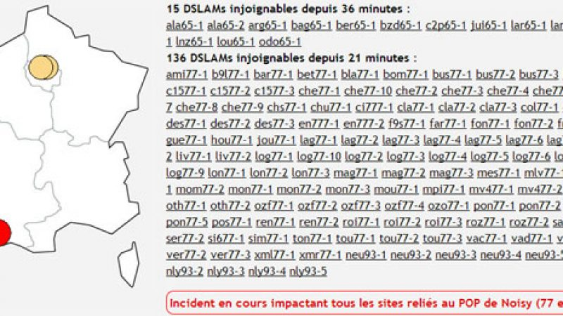 Grosses perturbations sur le réseau Free en Ile de France et Hautes-Pyrénées