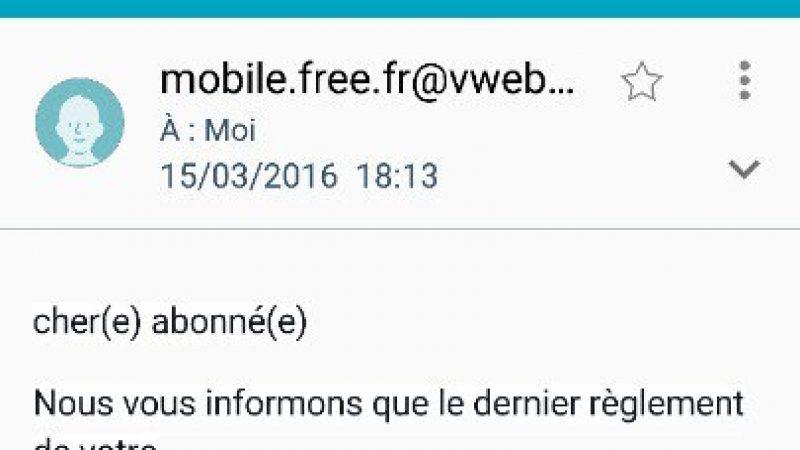 Phishing : un pirate invente même un nouveau slogan pour Free Mobile