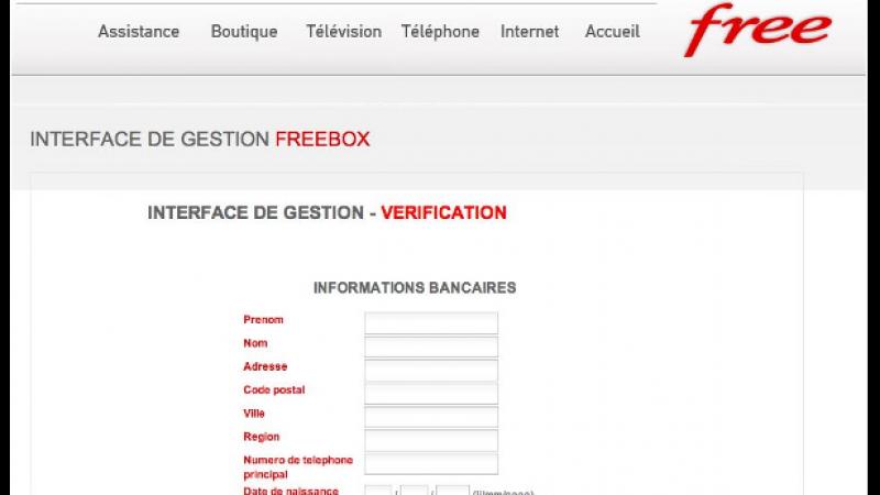 [MàJ] Une attaque phishing (hameçonnage) cible les Freenautes