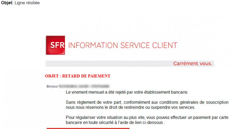 Un pirate aurait eu accès aux coordonnées d'abonnés SFR et tente une arnaque à la carte bancaire