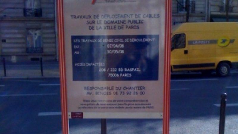 Free : La fibre s'affiche en plein Paris !