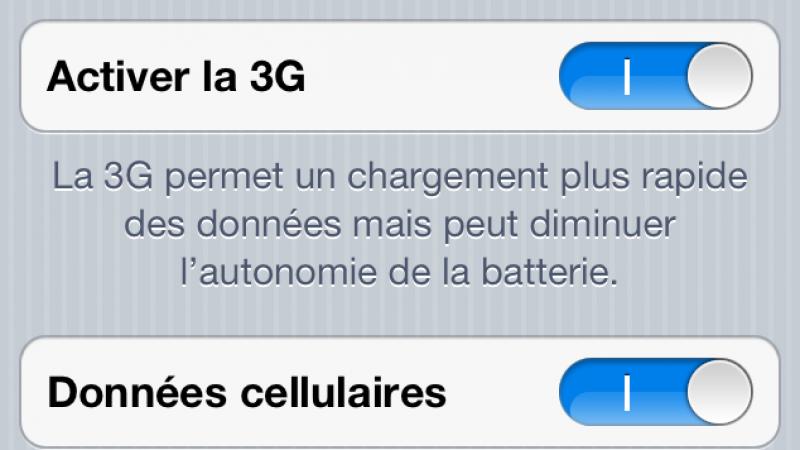 """Free Mobile : 3G sur iPhone4 une mise à jour ou un """"reboot"""" du téléphone s'impose"""