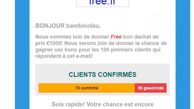 Et voici le pire phishing (et de loin) se faisant passer pour Free