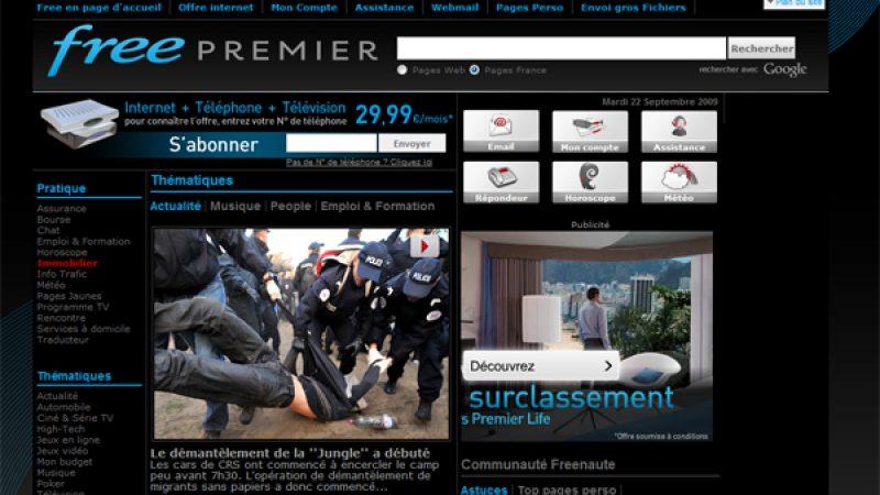 Partenariat pub : Changement de look pour Free.fr