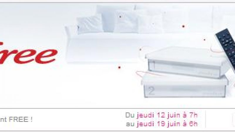 Free prolonge son offre Freebox Crystal à 1,99 euros