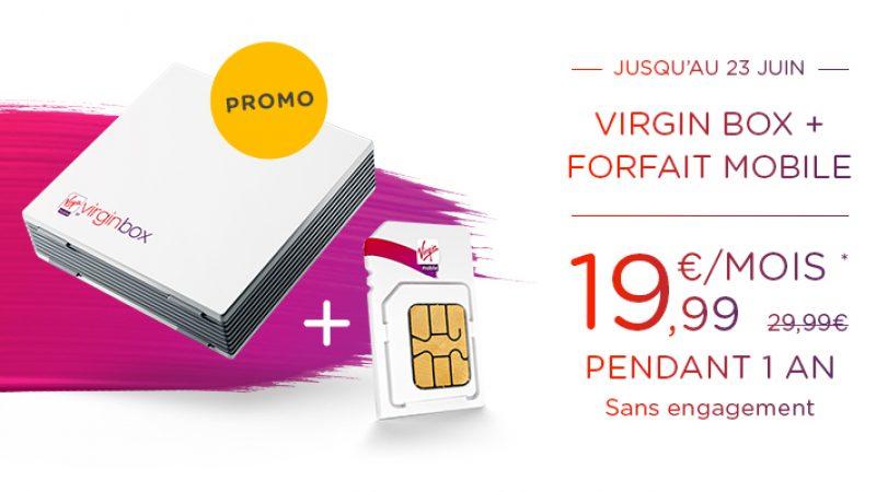 Virgin Mobile lance une nouvelle promotion ADSL. La Virgin Box à 19.99 euros par mois