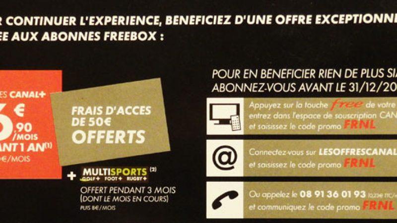 Canal+ propose une offre pour les Freenautes, à l'issue de la mise au clair