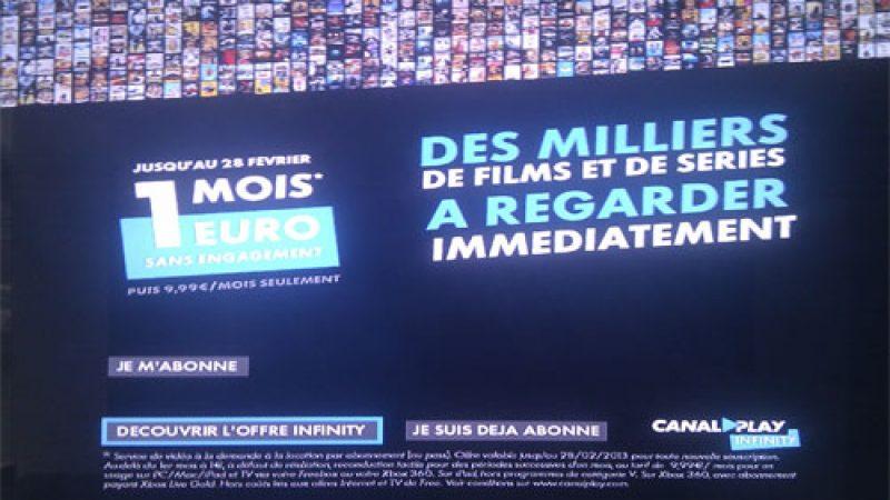 Promo Freebox : Profitez de Canalplay Infinity pour 1€ durant un mois !