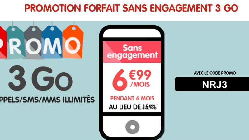 NRJ Mobile lance une promo de 6 mois sur son forfait 3Go, mais facture au prix fort toutes les options