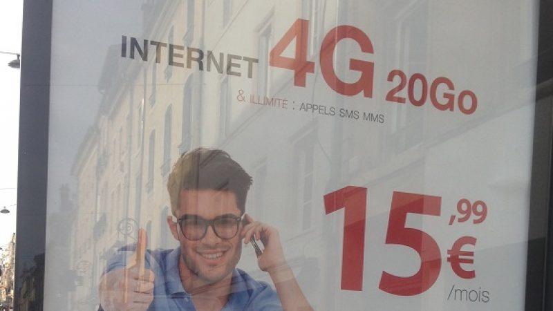 Découvrez la nouvelle affiche publicitaire sur la 4G Free Mobile