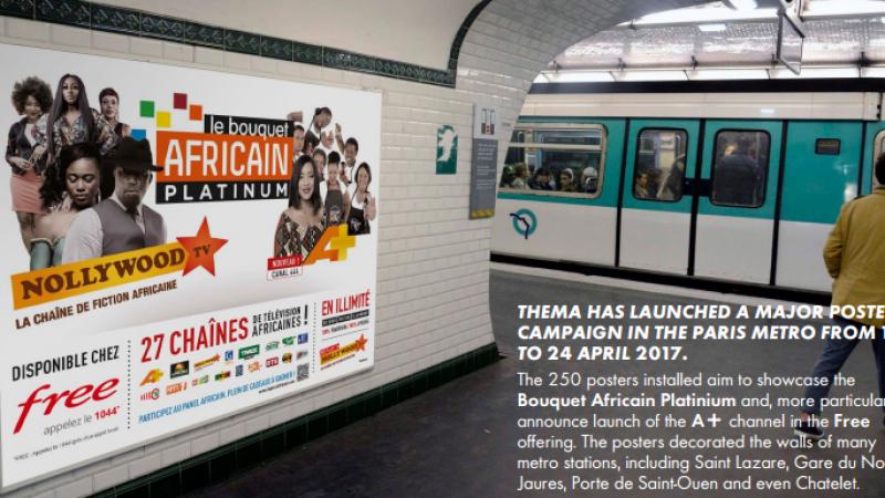 Free : Publicité ciblée dans le métro pour l'arrivée de A+ et pour le bouquet africain Platinum