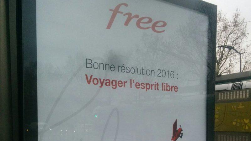 """Free lance une nouvelle campagne de pub pour 2016 : """"voyagez l'esprit libre"""" et """"être généreux"""""""