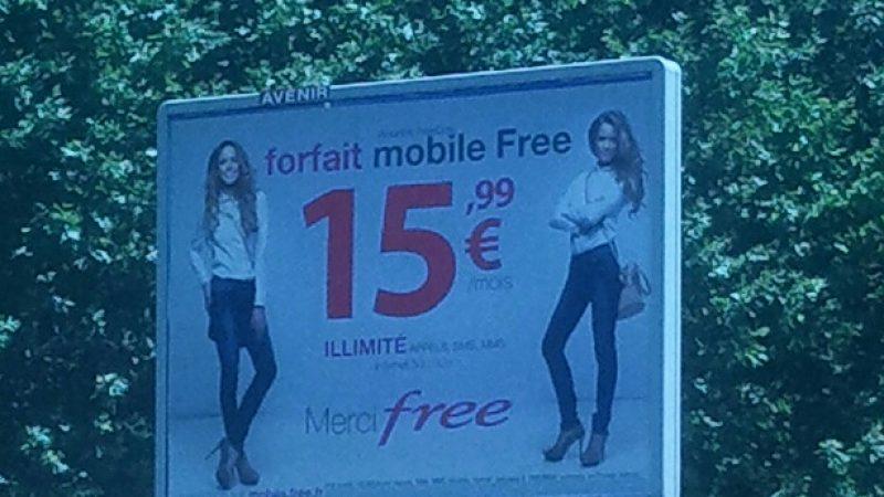 Free Mobile : une nouvelle campagne d'affiches 4 par 3 pour le tarif abonné