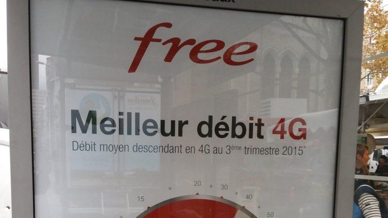 Free Mobile lance une nouvelle campagne pub où il indique avoir le meilleur débit 4G