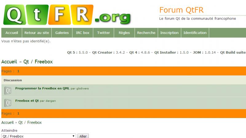 Création d'applications pour Freebox Révolution : QtFR lance un forum dédié aux développeurs