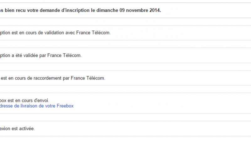 """Clin d'oeil : Orange toujours nommé """"France Télécom"""" sur l'espace abonné Freebox"""