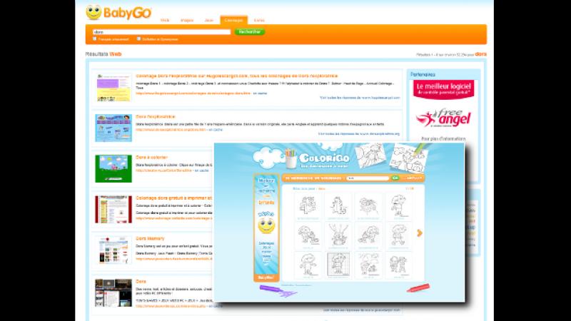FreeAngel lance un nouveau moteur de recherche sur Babygo et Colorigo