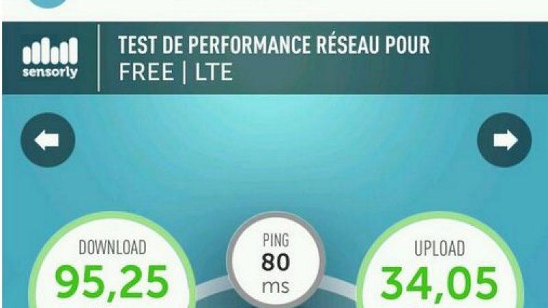 Record 4G Free Mobile à Avignon