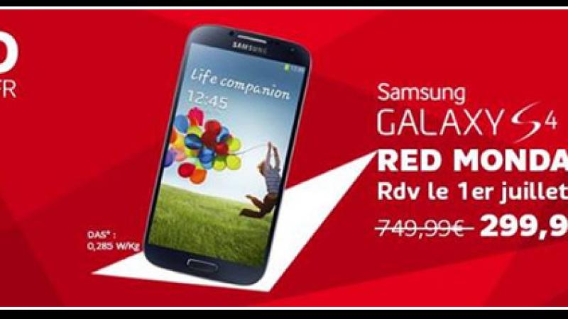 RED Monday : SFR proposera le Samsung Galaxy S4 à 299,99€