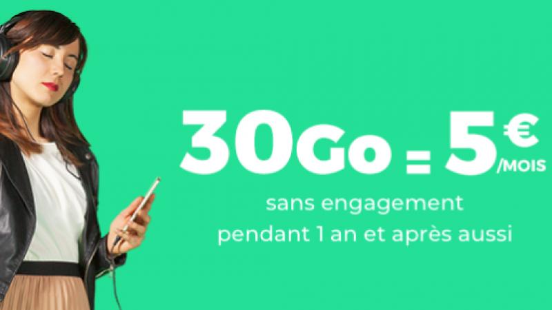 RED By SFR lance une offre 30 Go à 5€/mois à vie sur Showroom Privé