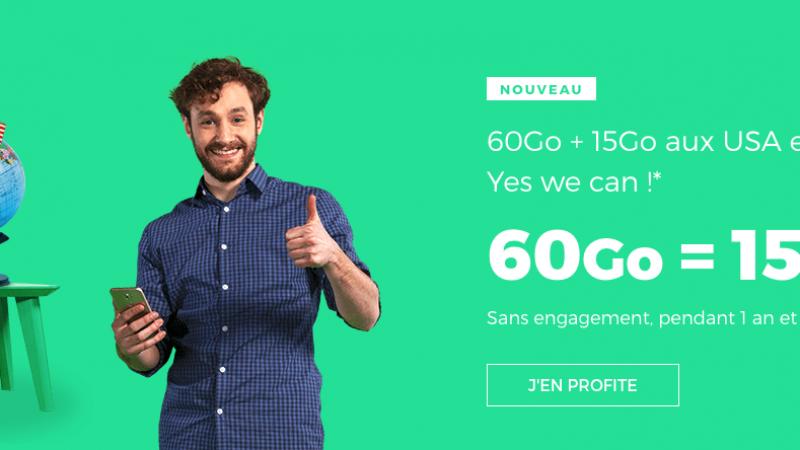 RED by SFR lance une offre 60 Go à 15€/mois à vie