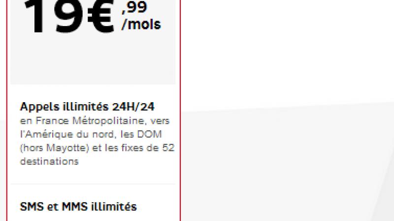RED lance la 4G dans son forfait à 19,99€ sans Youtube illimité