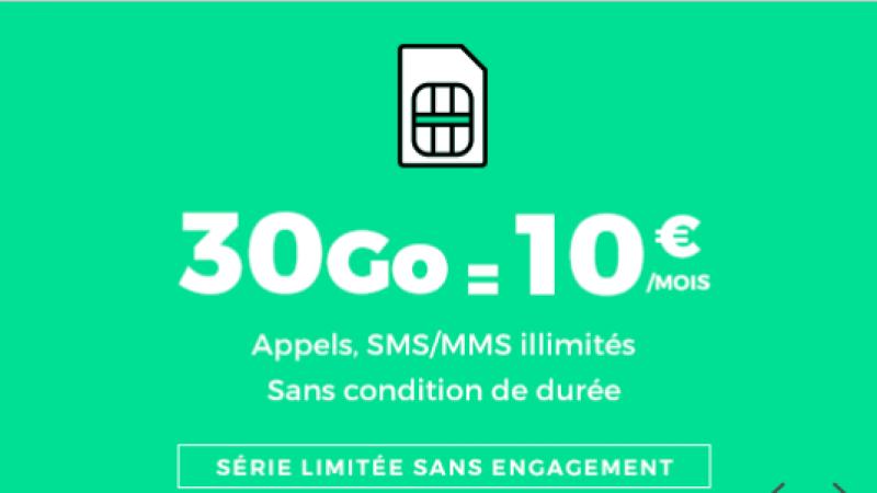 RED by SFR lance un forfait 30Go sur Showroom Privé