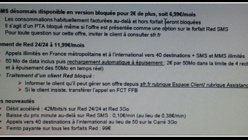 RED : Les appels illimités, les SMS/MMS illimités et 50 Mo de DATA à 11,99€/mois ?