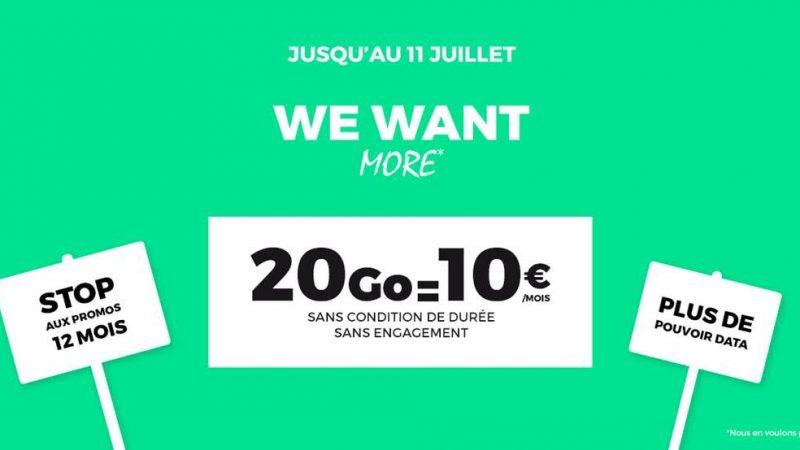 RED by SFR lance une nouvelle promo avec un forfait 20Go à 10€ sans condition de durée