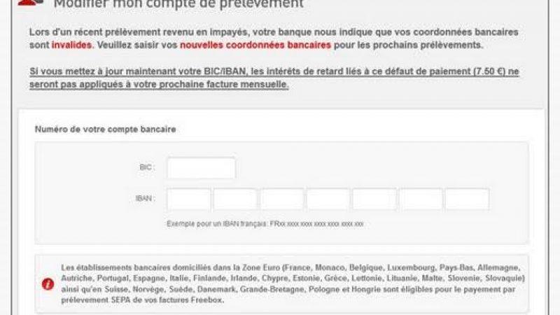 Freebox : évolution lors du rejet de prélèvement
